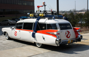 The iconic Ghostbuster Ectomobile