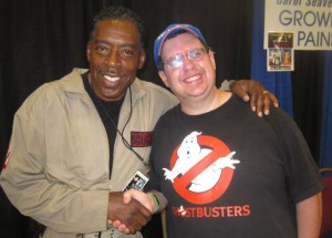 Author Chuck Brutz with Ernie Hudson