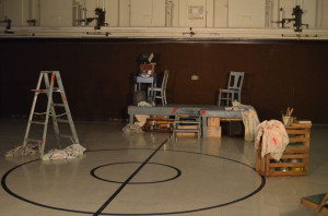 "The stage is set for The Smithfield Street Theatre's production of ""Red."""