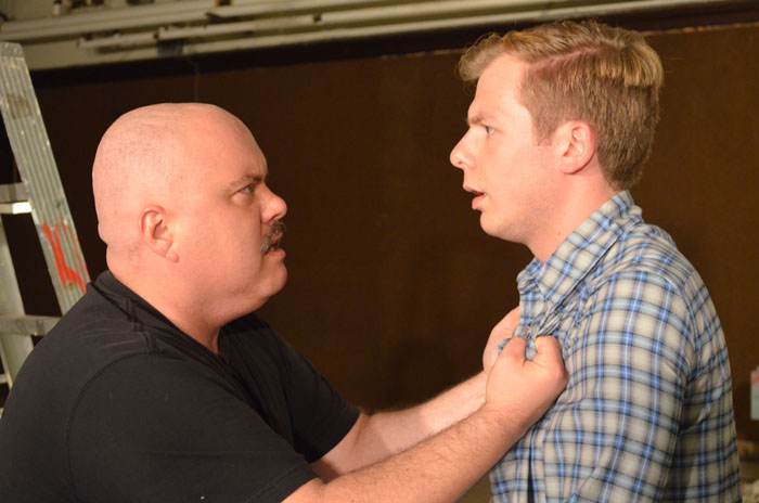 "Tom Protulipac (left) and Tyler Anthony Smith (right) rehearse a scene for ""Red,"" opening Thursday, June 26."