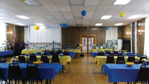 Patrons can also rent the upper hall for banquets, weddings, business meetings and parties.  The rental fee for the hall is determined by the size of the event.