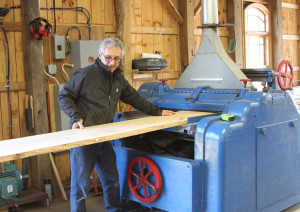 A Green Craftsman, all of Gillen's tables and countertops are  custom, one of a kind pieces fashioned from fallen lumber