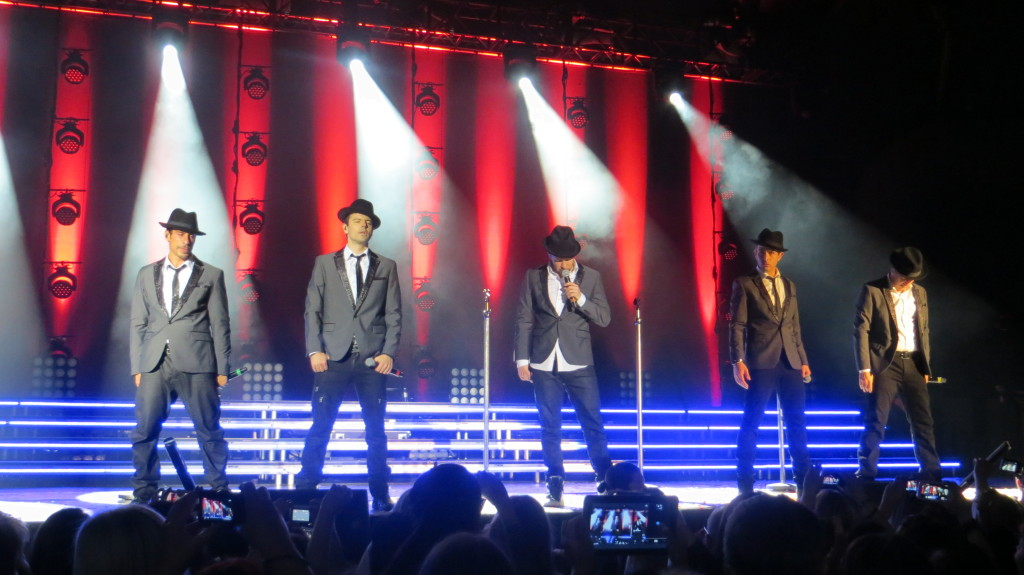 New Kids on the Block on stage in Vienna in 2014