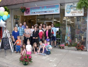 """Fans, friends and family smiled for photos at the book signing/release for """"Della and Lila Meet the Monongahela Mermaid"""" on May 14."""