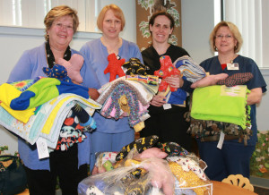 Volunteers make one of a kind gifts for young patients
