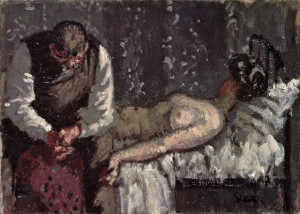 "One Ripper suspect was British artist Walter Sickert, who painted the above piece titled ""The Camden Town Murder"" and whose name has been linked to multiple theories about Jack the Ripper. Another Ripper suspect is beloved children's author Lewis Carroll, though this theory is considered laughable by most credible Ripperologists."