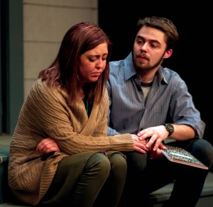 "Student actors performing in last season's production of ""Proof"""