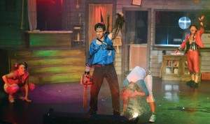 Evil Dead - The Musical.  Center:  David Sajewich.  Courtesy of Peter Coombs.
