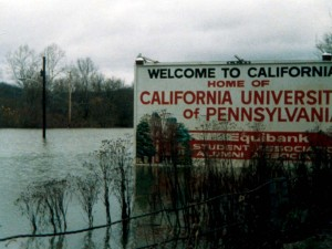Floodwaters rose to astonishing levels during the Election Day Flood of 1985. Photo courtesy of Rosemary Capanna.