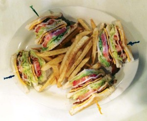 A mouthwatering turkey club is just one of the delicious choices on The Food Bar's menu