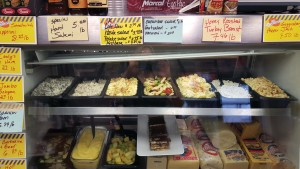 Customers rave about Rte 40 Deli's potato & macaroni salads, shown on display here along with some of the Deli's ofher delicious options. The Deli also offers catering packages. Contact Judy or Pete for more information at 724-632-7077. Check out the Deli's Facebook page for daily specials!