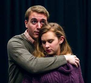 "Photos of the cast of ""Yet Another Funeral"" courtesy of photographer Kelly Tunney. In photo: Clayton Rush & Kayla Grimm."