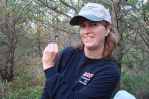 Dr. Carol Bocetti with Warbler