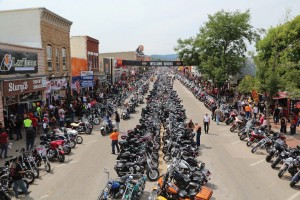 It's not uncommon to see 1000s of motorcycle enthusiasts pour into town during road trips or for club member funerals, for example.