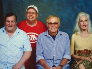 Author Chuck Brutz with some familiar faces from the Batman television show