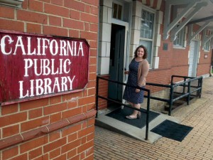 The California Public Library invites everyone to stop by and say hello to the new Director/Librarian, Kristen Diethorn.